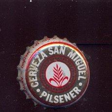Coleccionismo de cervezas: CHAPA SAN MIGUEL PILSENER ANTIOXIDANTE / AÑOS 80. Lote 49943164
