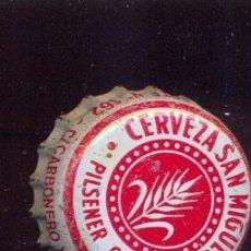 Coleccionismo de cervezas: CHAPA SAN MIGUEL PILSENER CRISTAL ANTIOXIDANTE / AÑOS 80. Lote 49943199