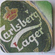 Coleccionismo de cervezas: POSAVASO POSAVASOS CERVEZA DANESA CARLSBERG BEER. TRIVIA QUIZ. WHO IS LIVERPOOL'S HIGEST .... Lote 50251664