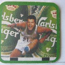 Coleccionismo de cervezas: POSAVASO POSAVASOS CERVEZA DANESA CARLSBERG BEER. THE IAAF WORLD CHAMPIONSHIPS ATHENS' 97. Lote 50251695