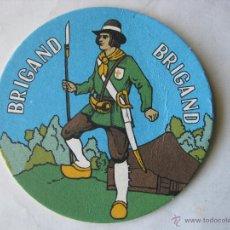 Coleccionismo de cervezas: POSAVASO POSAVASOS CERVEZA BRIGAND (COMO NUEVO). Lote 50252445