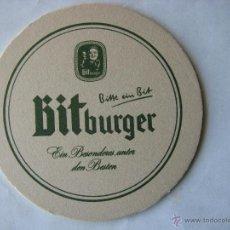 Coleccionismo de cervezas: POSAVASOS POSAVASO ALEMANA BITBURGER. (COMO NUEVO).. Lote 50252627