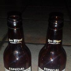 Coleccionismo de cervezas: ANTIGUS BOTELLAS CERVEZA SAN MIGUEL. Lote 50439982