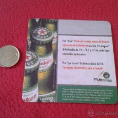 Coleccionismo de cervezas: ESCASO POSAVASOS TENGO MAS POSAVASOS VEAN MIS LOTES CERVEZA HEINEKEN PUBLICIDAD FIB BENICASSIM IDEAL. Lote 50856802