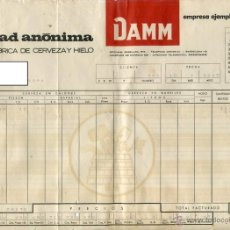 Coleccionismo de cervezas: DAMM SOCIEDAD ANONIMA ANTIGUA FACTURA DE SUMINISTROS MAYO DE 1967 . Lote 50922951