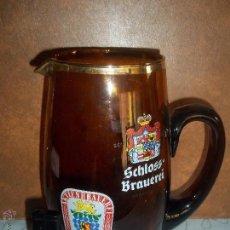 Coleccionismo de cervezas: PRECIOSA ANTIGUA Y GRAN JARRA CERVEZA AKTIENBRAUEREI KAUFBEUREN SCHLOSS BRAUEREI BRONNBACH. Lote 51089371