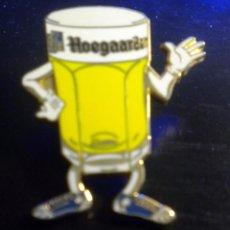 Coleccionismo de cervezas: PIN CERVEZA VASO HOEGAARDEN BIRRA BEER. Lote 51485042