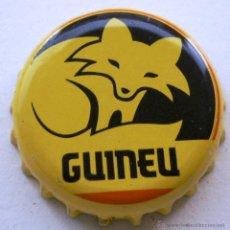 Coleccionismo de cervezas: CHAPA CERVEZA GUINEU, CERVEZA ARTESANA. COLOR AMARILLO. Lote 142797532