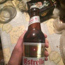 Coleccionismo de cervezas: ANTIGUA BOTELLA DE CERVEZA ESTRELLA DAMM PILSEN EXTRA ESPECIAL BARCELONA 92 . AÑOS 80-90. SIN ABRIR.. Lote 58644579