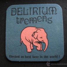 Coleccionismo de cervezas: POSAVASOS CERVEZA DELIRIUM TREMENS BELGICA. Lote 52819095