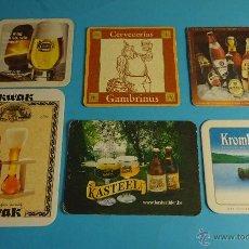 Coleccionismo de cervezas: 6 POSAVASOS CERVEZAS. Lote 53378368