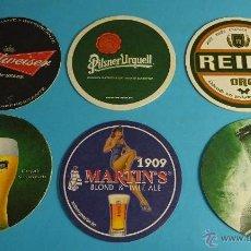 Coleccionismo de cervezas: 6 POSAVASOS CERVEZAS. Lote 53378379