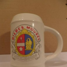 Coleccionismo de cervezas: JARRA DE CERVEZA MOUSEL LUXEMBOURG. Lote 53395107