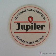 Coleccionismo de cervezas: POSAVASOS CERVEZA BELGA JUPITER CARTON DURO . Lote 53578652