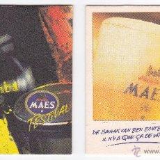 Coleccionismo de cervezas: LOTE 67 POSAVASOS, COASTERS CERVEZA BELGA, MAES, JUPILER, STELLA, HOEGAARDEN, DUVEL, PALM.... Lote 53760890