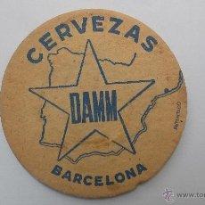 Coleccionismo de cervezas: POSAVASOS CERVEZA DAMM POSAVASO. Lote 54225067