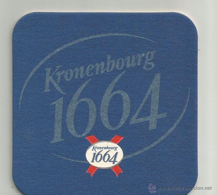 POSAVASOS CERVEZA KRONENBOURG 1664 (Coleccionismo - Botellas y Bebidas - Cerveza )