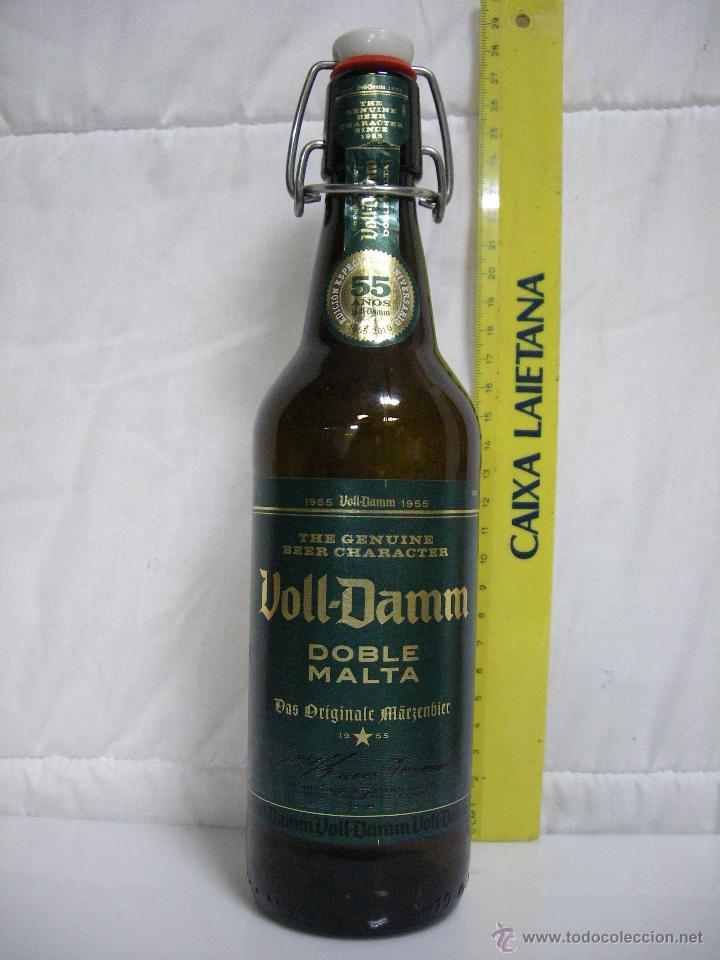 Voll Damm Edicion Especial 55 Anos Botella Vacia Cerveza Extra Doble Malta