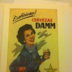 Coleccionismo de cervezas: IMÁGENES HISTÓRICAS DAMM -LOTE DE 4. Lote 55686529
