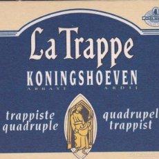 Coleccionismo de cervezas: POSAVASOS CERVEZA LA TRAPPE. Lote 56191025