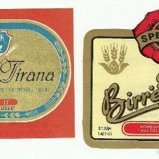 Coleccionismo de cervezas: LOTE ETIQUETAS ALBANIA. Lote 56257196