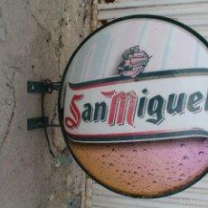 Coleccionismo de cervezas: CARTEL LUMINOSO DE CERVEZA SAN MIGUEL. Lote 57588127