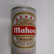 Coleccionismo de cervezas: HUCHA LATA DE CERVEZA MAHOU CINCO ESTRELLAS. . Lote 147581173