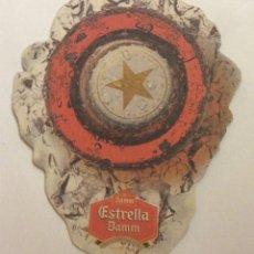 Coleccionismo de cervezas: POSAVASOS ESTRELLA DAMM. CARTON DURO DOBLE CARA. Lote 57894921