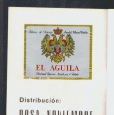 Coleccionismo de cervezas: FOLLETO CON ETIQUETA DE CERVEZA, PUBLICIDAD DE UN DISTRIBUIDOR.CASTELLÓN DE LA PLANA.. Lote 57987341