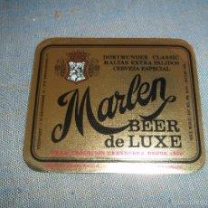 Coleccionismo de cervezas: ANTIGUA ETIQUETA CERVEZA MARLEN BEER DE LUXE LA ZARAGOZANA DORTMUNDER CLASISIC NUEVA SIN USAR. Lote 58114329