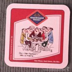 Coleccionismo de cervezas: POSAVASOS CERVEZA LÖWENBRAUEREI PASSAU. Lote 58178834