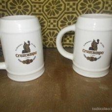 Coleccionismo de cervezas: 2 JARRAS DE CERVEZA CRUZCAMPO JAÉN. Lote 59769552