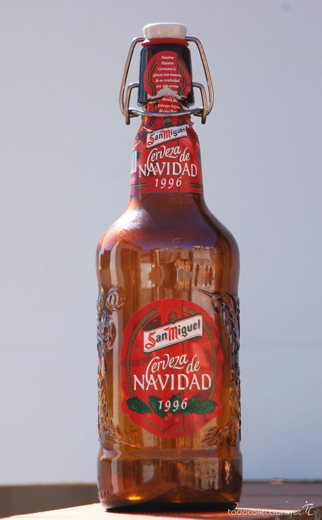 BOTELLA SAN MIGUEL EDICIÓN ESPECIAL NAVIDAD 1996 (Coleccionismo - Botellas y Bebidas - Cerveza )