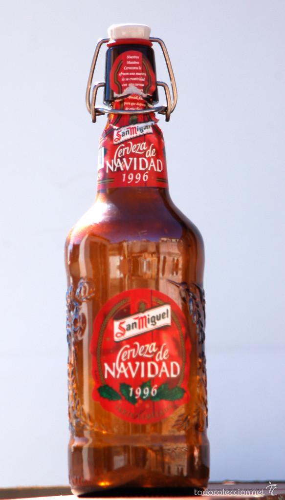 Coleccionismo de cervezas: BOTELLA SAN MIGUEL EDICIÓN ESPECIAL NAVIDAD 1996 - Foto 2 - 60916751