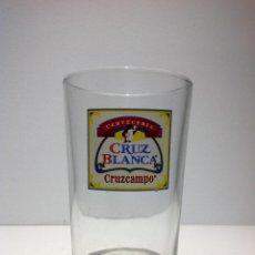 Coleccionismo de cervezas: ANTIGUO VASO DE CERVEZA * LA CRUZ BLANCA * SERIGRAFIADO. Lote 61251479