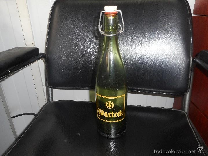 ANTIGUA BOTELLA CERVEZA MARCA WARTECK SERIGRAFIADA (Coleccionismo - Botellas y Bebidas - Cerveza )