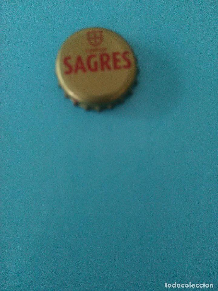 CHAPA CERVEJA SAGRESL.PORTUGAL (Coleccionismo - Botellas y Bebidas - Cerveza )