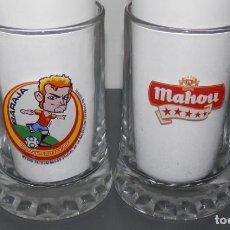 Coleccionismo de cervezas: CERVEZA MAHOU UNA JARRA. Lote 62387908