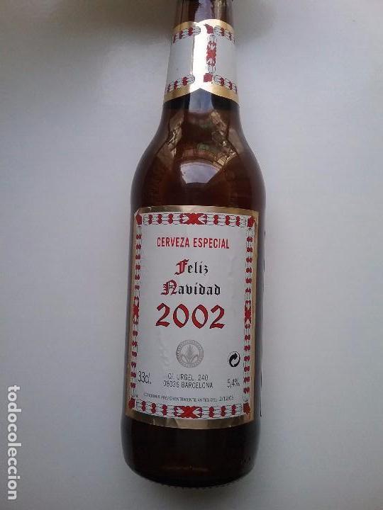 Coleccionismo de cervezas: CERVEZA SAN MIGUEL BOTELLA CONMEMORATIVA NAVIDAD 2002 - Foto 2 - 118378490