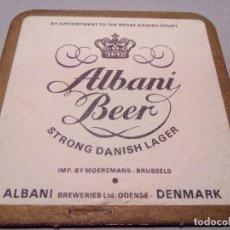 Coleccionismo de cervezas: POSAVASOS CERVEZA ALBANI BEER. Lote 62463168