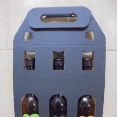 Coleccionismo de cervezas: LOTE BOTELLAS DISTINTAS VACIAS Y SIN CHAPA DE CERVEZA DEL PEDRAFORCA CON ESTUCHE PROMOCIÓN. Lote 63380364