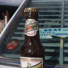 Coleccionismo de cervezas: BOTELLA CERVEZA SAN MIGUEL LLENA 1996. Lote 63458244