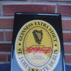 Coleccionismo de cervezas: CARTEL CHAPA CERVEZA GUINNESS EXTRA STOUT. CERVEZAS. Lote 64279123