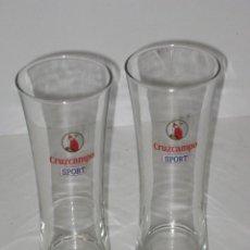 Coleccionismo de cervezas: 2 VASOS CRUZCAMPO SPORT. Lote 64342655