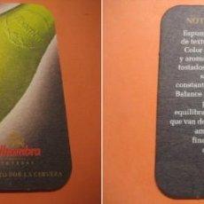 Coleccionismo de cervezas: POSAVASOS CERVEZA ALHAMBRA. CERVEZAS. Lote 64619603