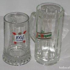 Coleccionismo de cervezas: DOS JARRAS DE CERVEZA. Lote 68663725