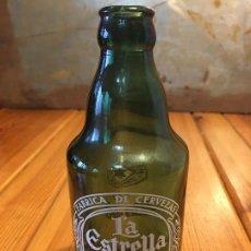 Coleccionismo de cervezas: ANTIGUA BOTELLA VERDE ESTRELLA GALICIA SERIGRAFIADA. Lote 69989249