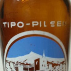 Coleccionismo de cervezas: BOTELLA DE CERVEZA *LA ALHAMBRA 66 CL* MUY ESCASA. Lote 70104945
