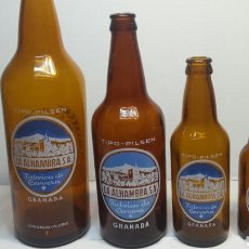 Coleccionismo de cervezas: BOTELLA CERVEZA ALHAMBRA 20 CL-33 CL-66CL-100CL ESCASA LA DE 66. Lote 70225709
