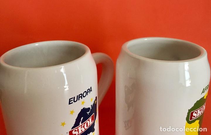 Coleccionismo de cervezas: 2 Jarras Cerveza Skol Europa y África Expo Sevilla 92 - Foto 2 - 56093948
